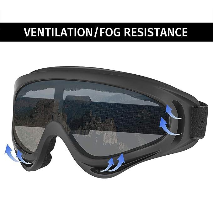 Amazon.com: HDE – Gafas de protección UV anteojos de esquí ...