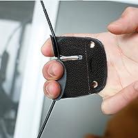 Wallfire 1 STÜCK Kuh Leder Bogenschießen Fingerschutz Schutzpolster Handschuh Tab Bogen Schießen Protector