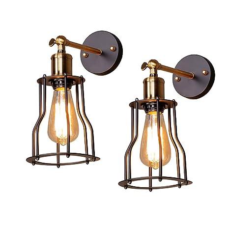 GOL E27 Luces de pared retro lámpara de pared vintage industrial ...