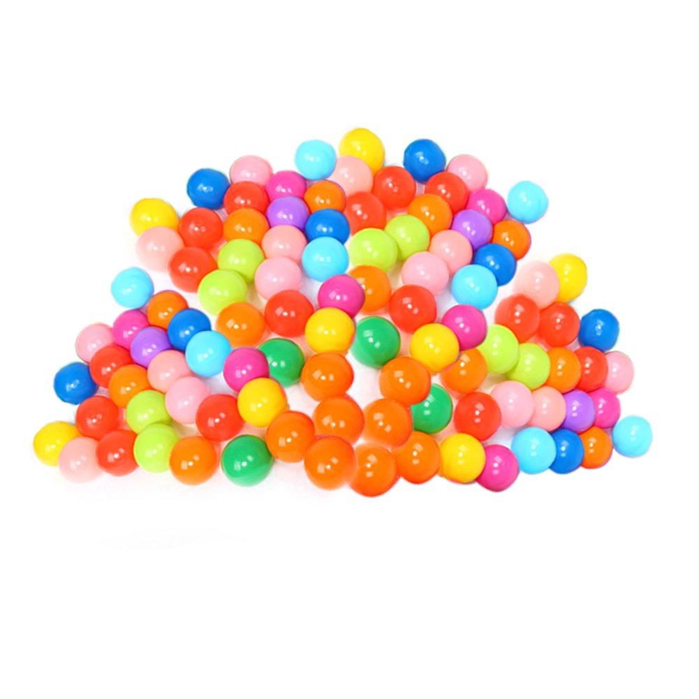 Vipeco カラフルソフトプラスチックオーシャンウォータープールボール おもしろベビーキッズスイムピットトイ 直径5.5cm/2.16インチ 100個   B07GZRFZYD