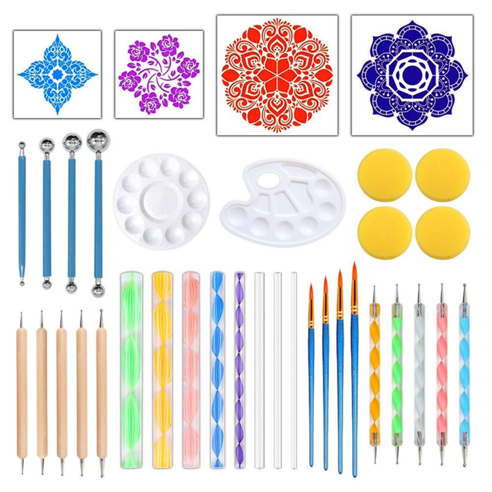 8pcs Set Mandala Dotting Painting Stencils Models DIY Stone Painting Template