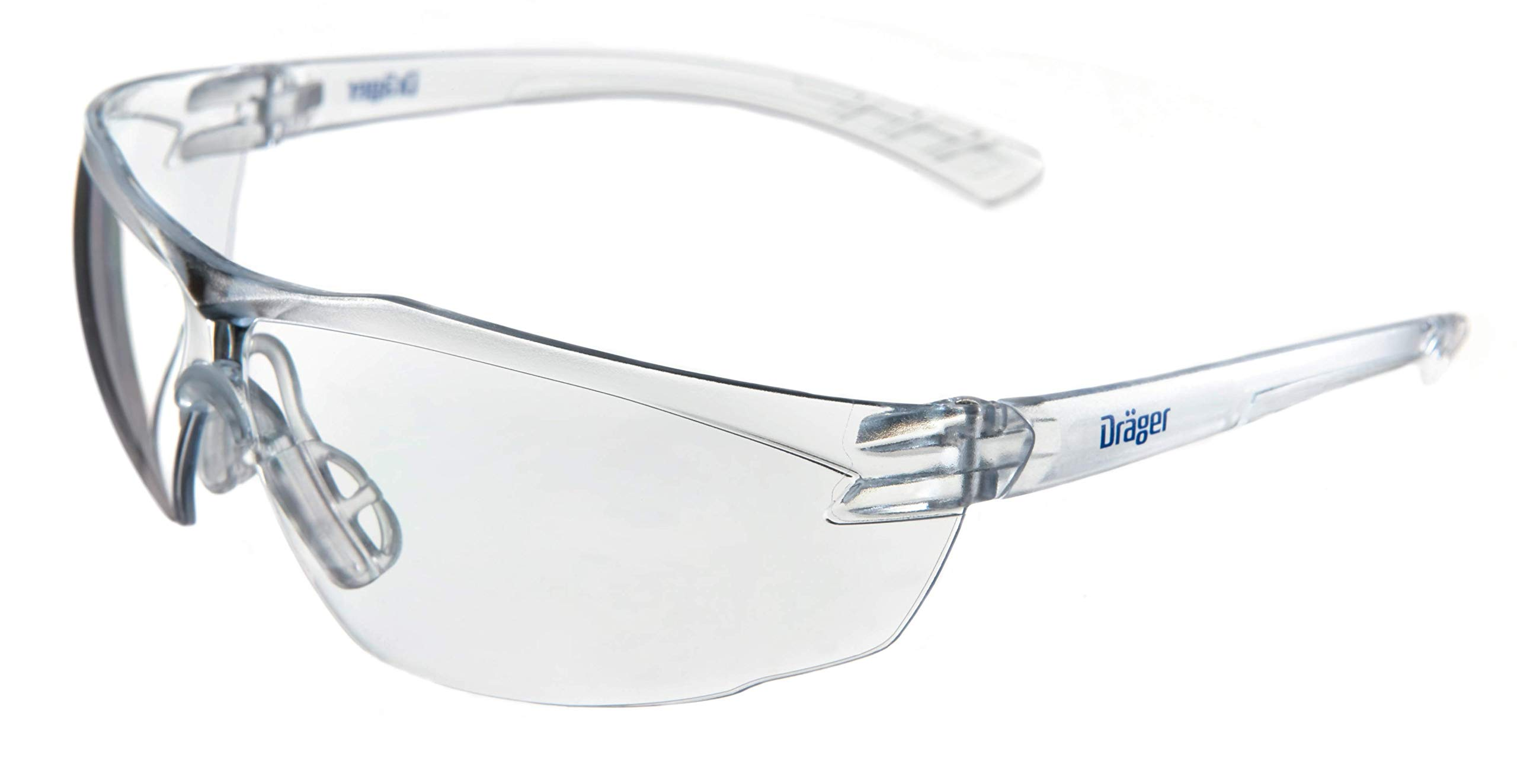 Dräger X-pect 8320 Protective Eyewear, ANSI Approved, 10 Pack, Anti-Scratch, Anti-Fog, Break-Resistant Safety Glasses, UV Protection (99.9%), Clear Lenses by Dräger