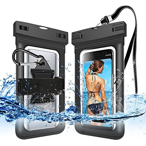 Price comparison product image Innens Waterproof Case, Dry Bag with Clip Armband Neck Strap for Phone Below 6.0""