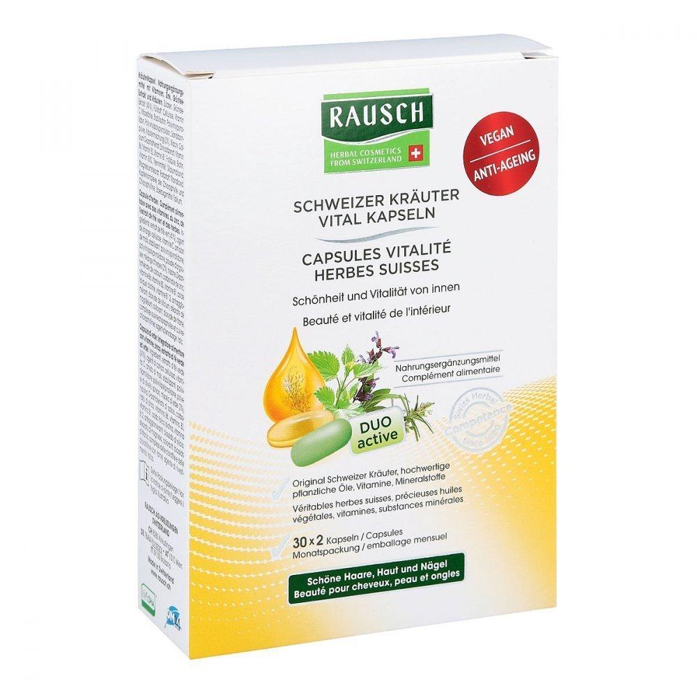 Rausch Swiss Herbal Vitality Capsules 30 x 2 Capsules