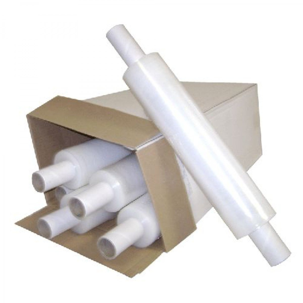 12 X ROLLS CLEAR PALLET STRETCH SHRINK WRAPS CAST PARCEL PACKING CLING FILM JeeJaan®