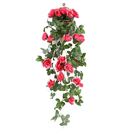 Festive & Party Supplies Latest Collection Of Artificial Flowers Velvety Rose Garland Wall Hanging Silk Flowers Rattan Hanging Ivy Plants For Wedding Party Garden Decoration
