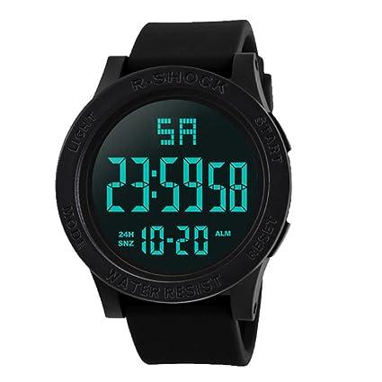 bescita moda impermeable LCD Digital Cronómetro Fecha de goma del ...