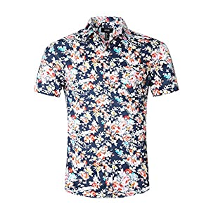 NUTEXROL Hawaiian Shirts Mens Bamboo Print Beach Aloha Party Holiday (XXX-Large, print9)