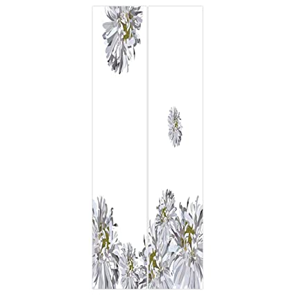 D Door Wall Mural Wallpaper Stickers Dahlia Flower Decorflourishing Summer Fusion Poppy Chamomile