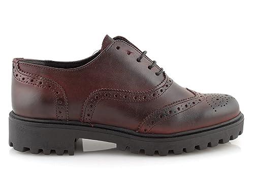 damalu Zapatos Mujer Invierno Cordones Francesine Deportivas Negras de Piel con Tacón Bajo Italianas: Amazon.es: Zapatos y complementos