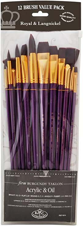 Nouveau Lynwood 5pc Pinceau No Bristle Loss Soft Grip Poignée x2 set, 10pcs au total