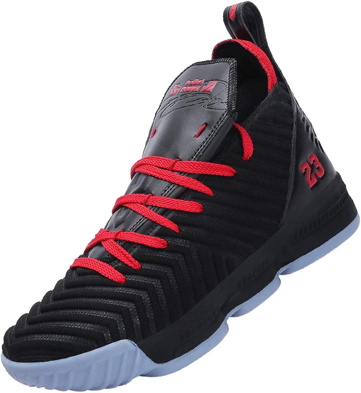 SINOES 2020 Hombre Mujer Zapatillas de Baloncesto Calzado Deportivo Al Aire Libre High-Top Sneaker Antideslizante Zapatillas de Deporte Ligeros Zapatos para Correr Transpirable Lace Up Niños Zapatos