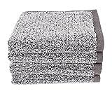 Everplush Diamond Jacquard Bath Linens Hand Towel, 4 Pack, 16' x 30', Gray