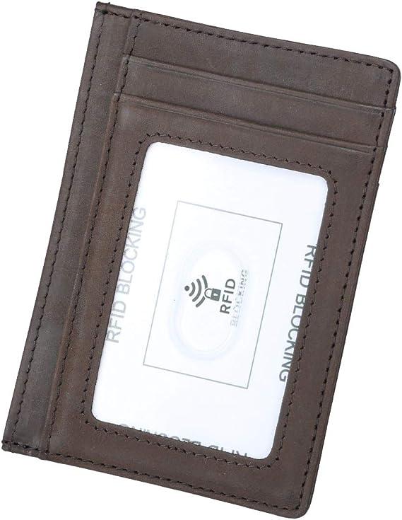 Women Men Leather Wallet RFID Blocking Pocket Holder Credit Card Case JJ
