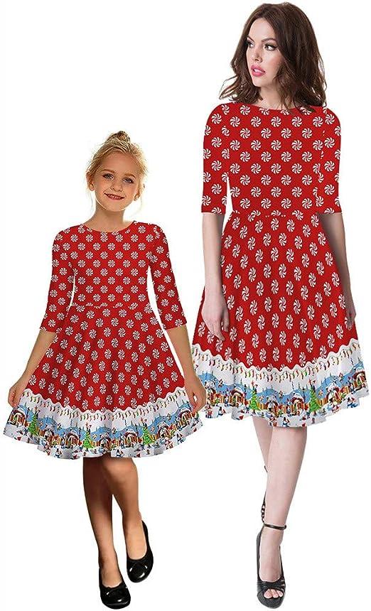 Kids Girls Christmas Dress Mother