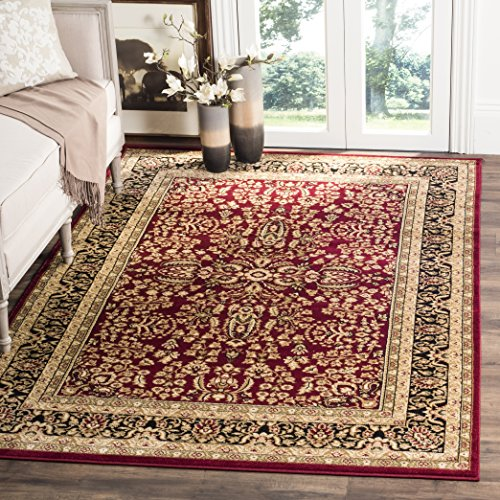 - Safavieh Lyndhurst Collection LNH214A Traditional Oriental Red and Black Area Rug (8' x 11')