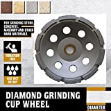 5 Inch (pack of 5 Pieces) Diamond Single Row Grinding cup wheel segmented concrete stone birck cement surface grinding coating paint remove mortar leveling heavy duty abrasive wheel sanding disc -  Diamond Abrasive and Power Tools