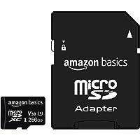 Amazon Basics - Tarjeta de memoria microSDXC 256 GB con adaptador de tamaño completo, A2, U3, velocidad de lectura hasta…