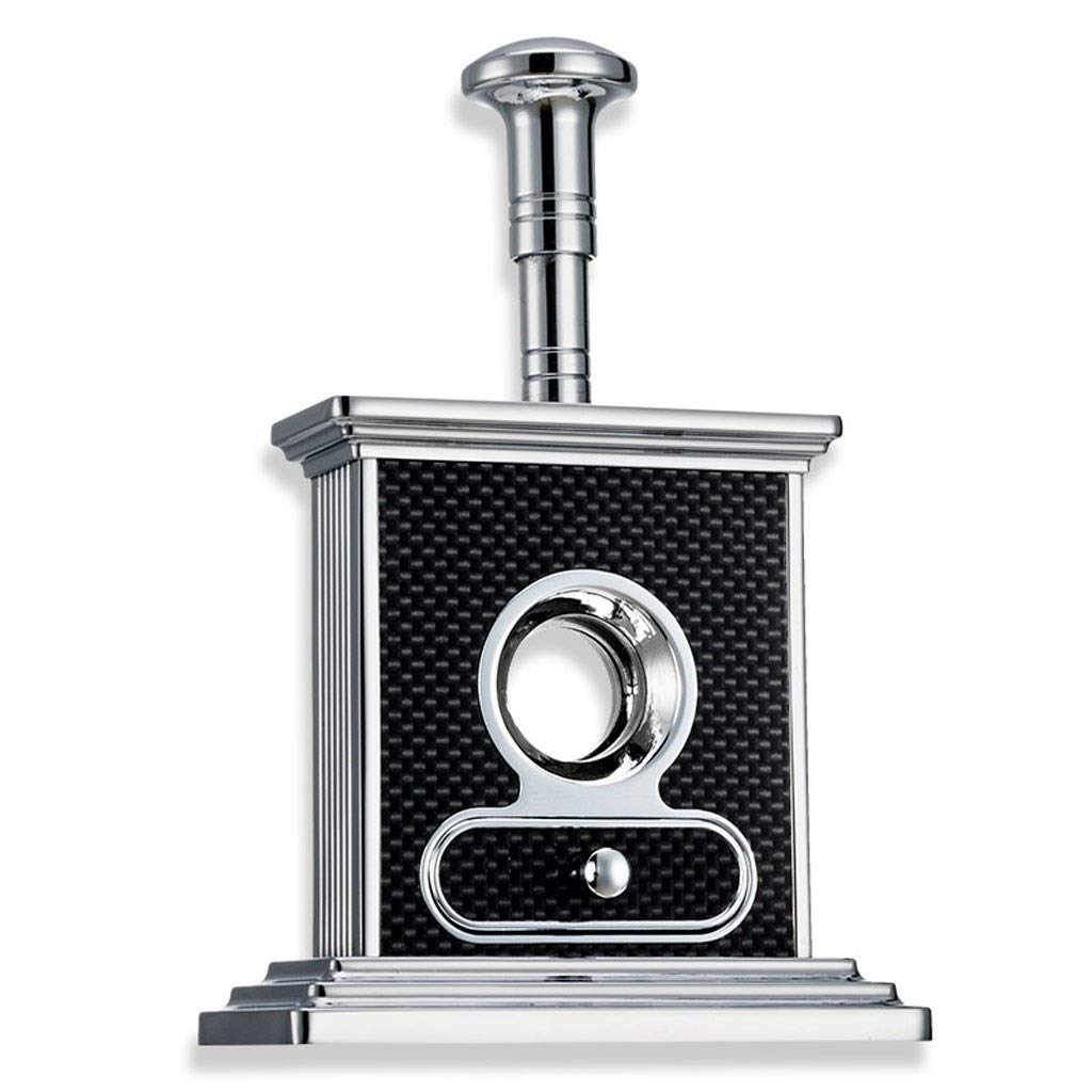 OLT- Smoking set This is a Nice Gift, Cigar Cutter Luxury Stainless Steel Table Top Cigar Guillotine Cigar Scissor for Most Size of Cigars (Color : Black)