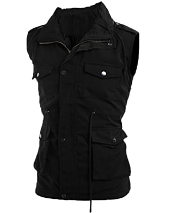 df71c749754 OCCOO Men Lightweight Sleeveless Military Anorak Vest Jacket at Amazon Men s  Clothing store