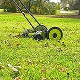 "Sun Joe MJ504M Push Manual Reel Mower Without Grass Catcher, 16"" Green"