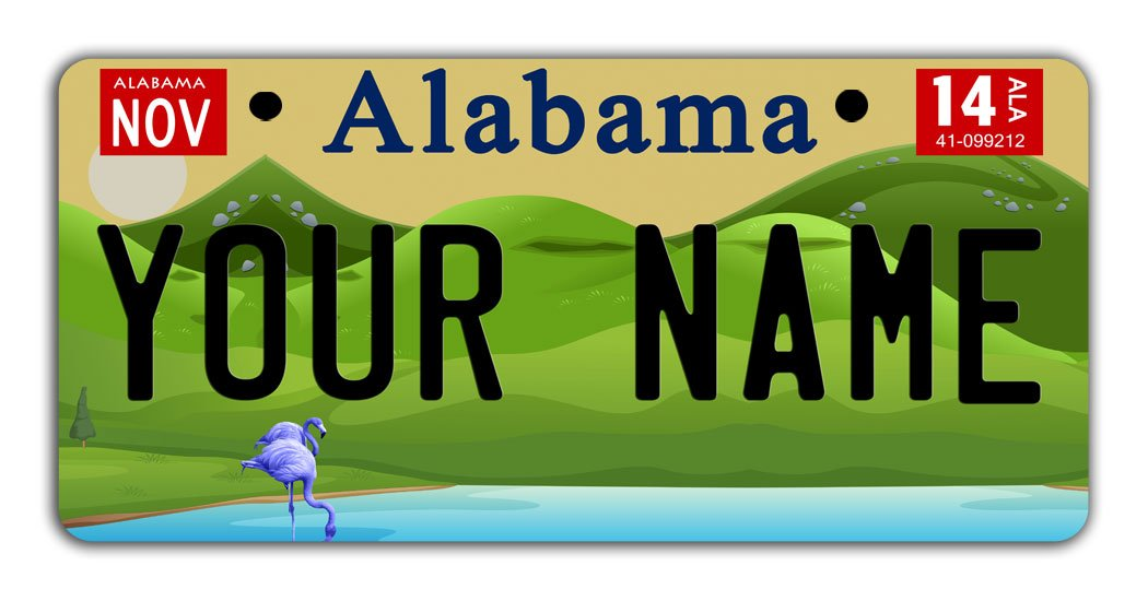 BleuReign Personalize Your Own 2016 Alabama State Bicycle Bike Stroller Children's Toy Car 3''x6'' License Plate Tag