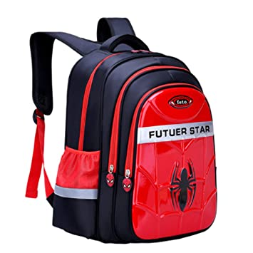 HOT School Bags For Boys Waterproof Backpacks Child Spiderman Book bag Kids 12/""