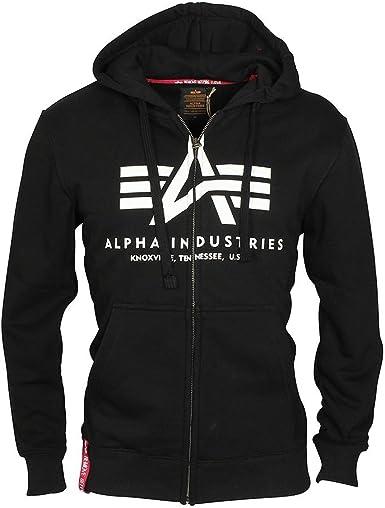 Alpha Industries Basic Zip Hoody weiß Kapuzenpulli Kapuzenjacke Sweater