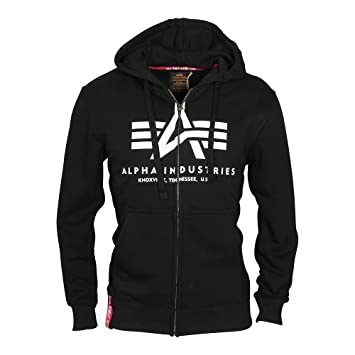 Alpha Industries Basic Zip Hoodie Schwarz L