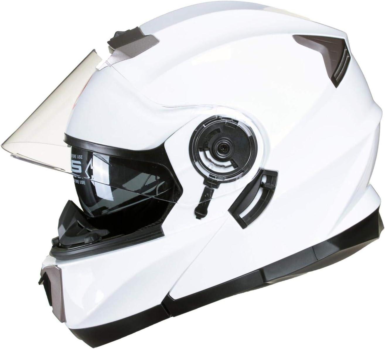 Bronze XL 61-62cm MODULAR Flip-Up Double Sun Visor for Motorcycle Bike Full Face ECE Approved EU Road Use Qtech Pulsar