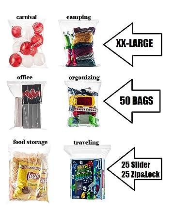 Amazon.com: Shiny Select - Bolsas de 5 galones extra grandes ...
