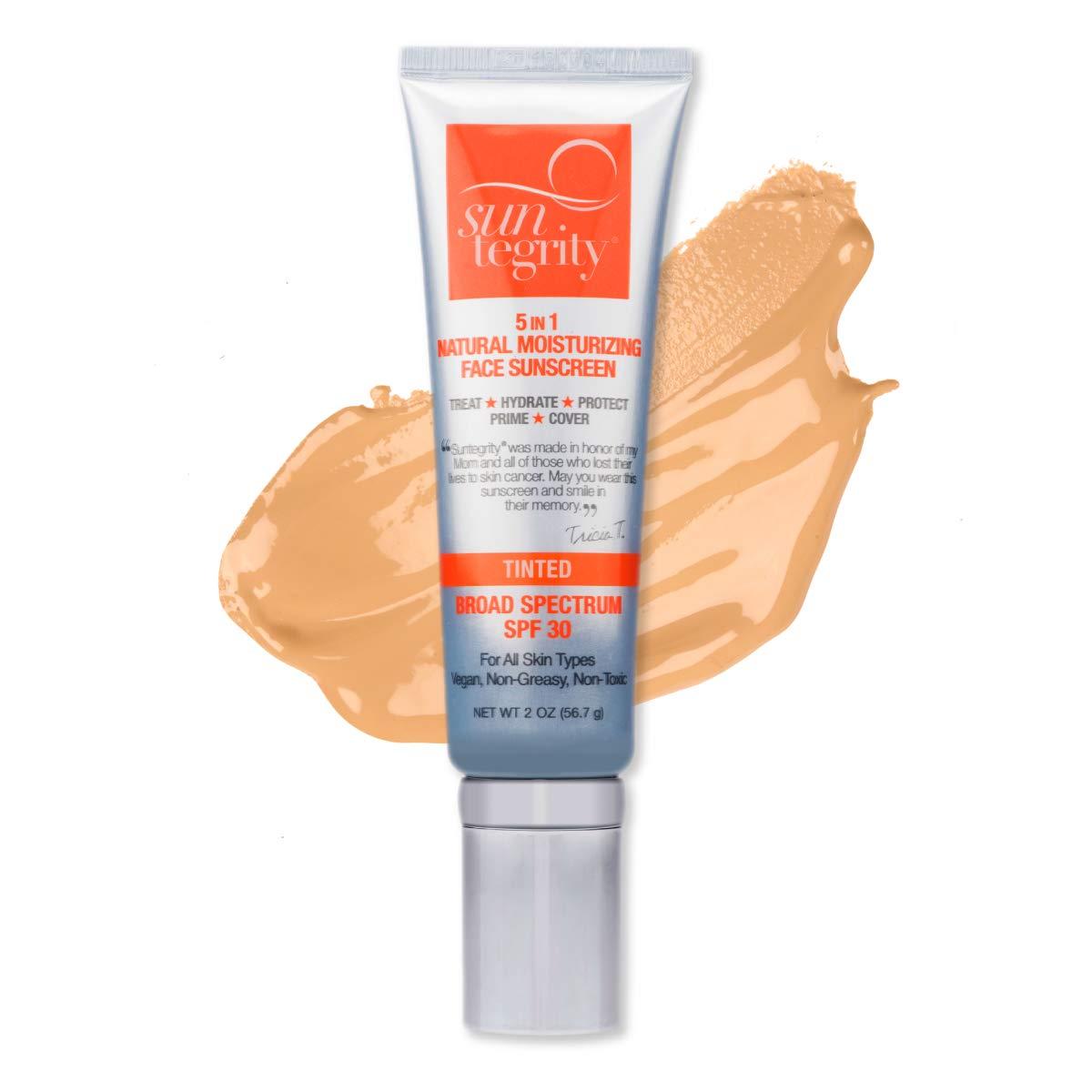 Suntegrity -''5 in 1'' Natural Moisturizing Face Sunscreen - Tinted - MEDIUM (MEDIUM)