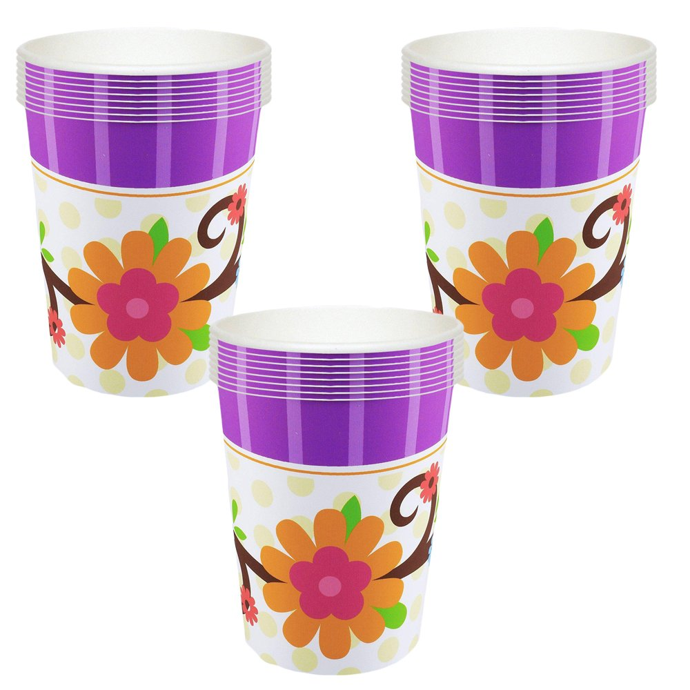 Owl Blossom Party Cups - 24 Guests by Pinatas (Image #1)