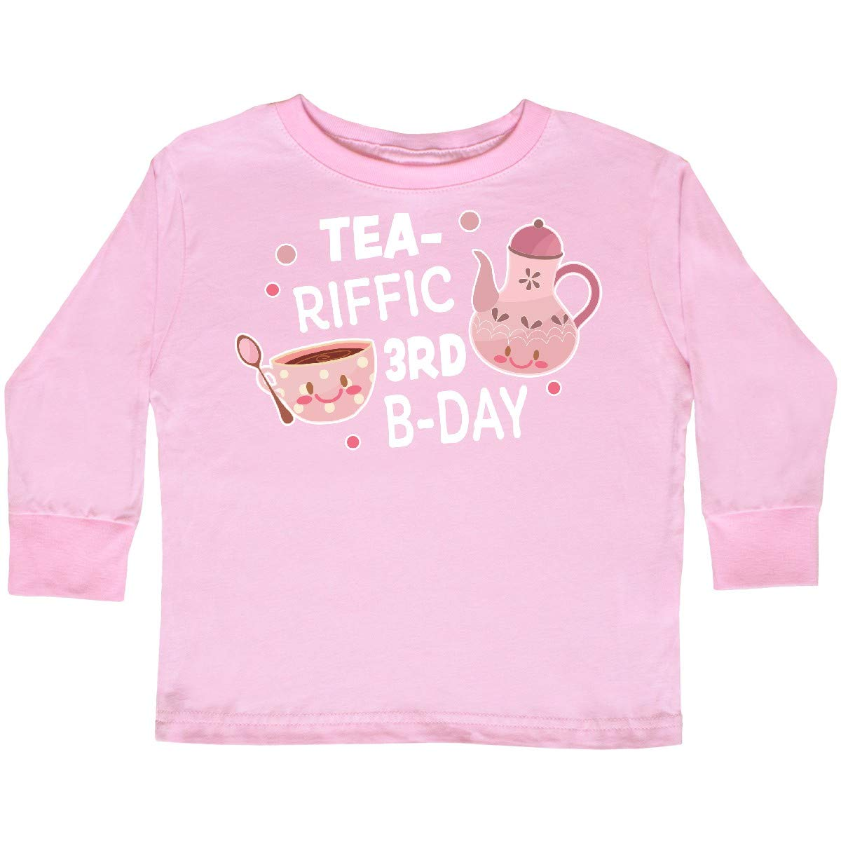 inktastic Tea-riffic 3rd Birthday with Teacup and Toddler Long Sleeve T-Shirt
