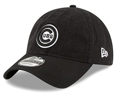 new concept 77297 f002c Image Unavailable. Image not available for. Color  New Era Chicago Cubs MLB  9Twenty Core Classic Twill Adjustable Black Hat