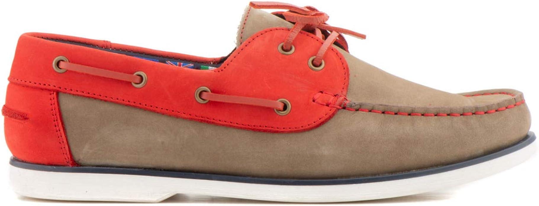 Naútico Dylan Rojo -Harrison & Co- -Hecho en España-: Amazon.es: Zapatos y complementos