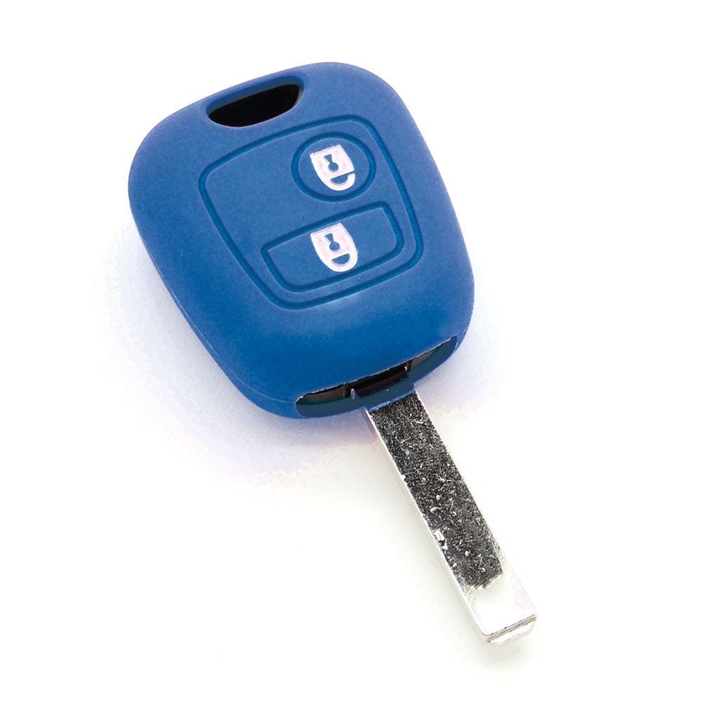 Funda de llave de silicona para Peugeot 107/206/207/306/307/Partner Expert