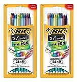 BIC Xtra-Fun Stripes Graphite Pencil, 2 HB, 48-Count