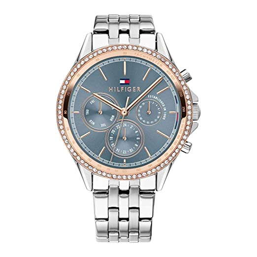 Tommy Hilfiger Reloj Multiesfera para Mujer de Cuarzo con Correa en Acero Inoxidable 1781976: Amazon.es: Relojes
