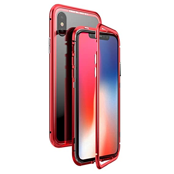 new arrivals db35f 912ea Amazon.com: For iPhone X case Magneto Magnetic Adsorption metal case ...