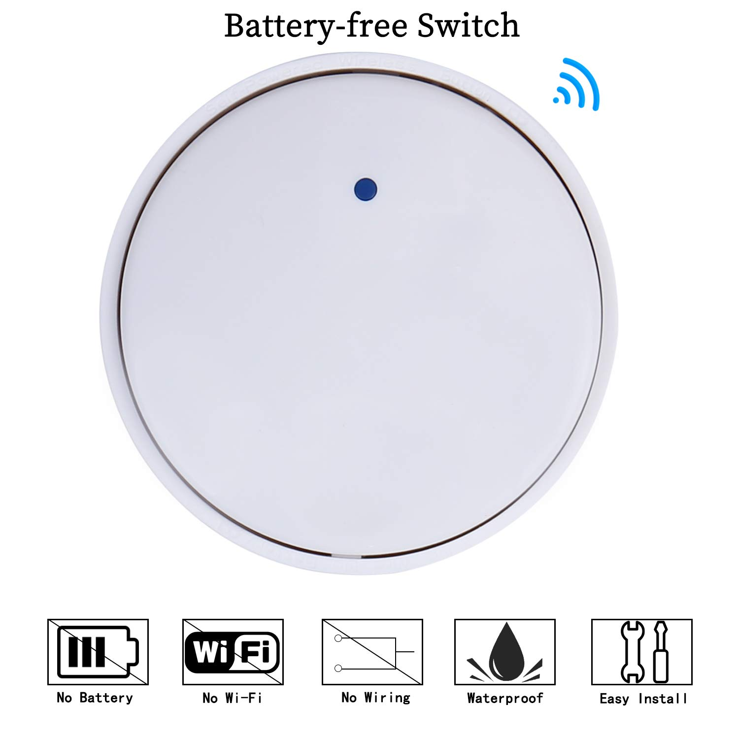Sink Top Garbage Disposal Wireless Switch Kit No Batteries Required Battery Wiring Diagram Self Powered For Waste Disposer