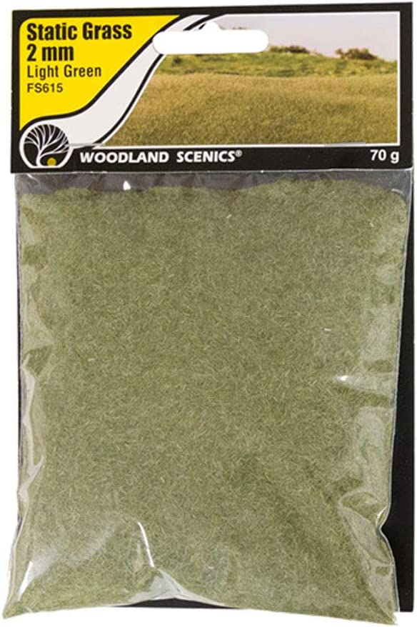 FS613, FS614, and FS615 JCLSL Woodland Scenics HO Static Grass Variety Pack of 3