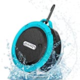 RyderMQ Shower Speaker, Handsfree Waterproof Speakers 6 h Playback HD Portable, Pool, Boat, Car and Beach. Technology Gifts - Blue