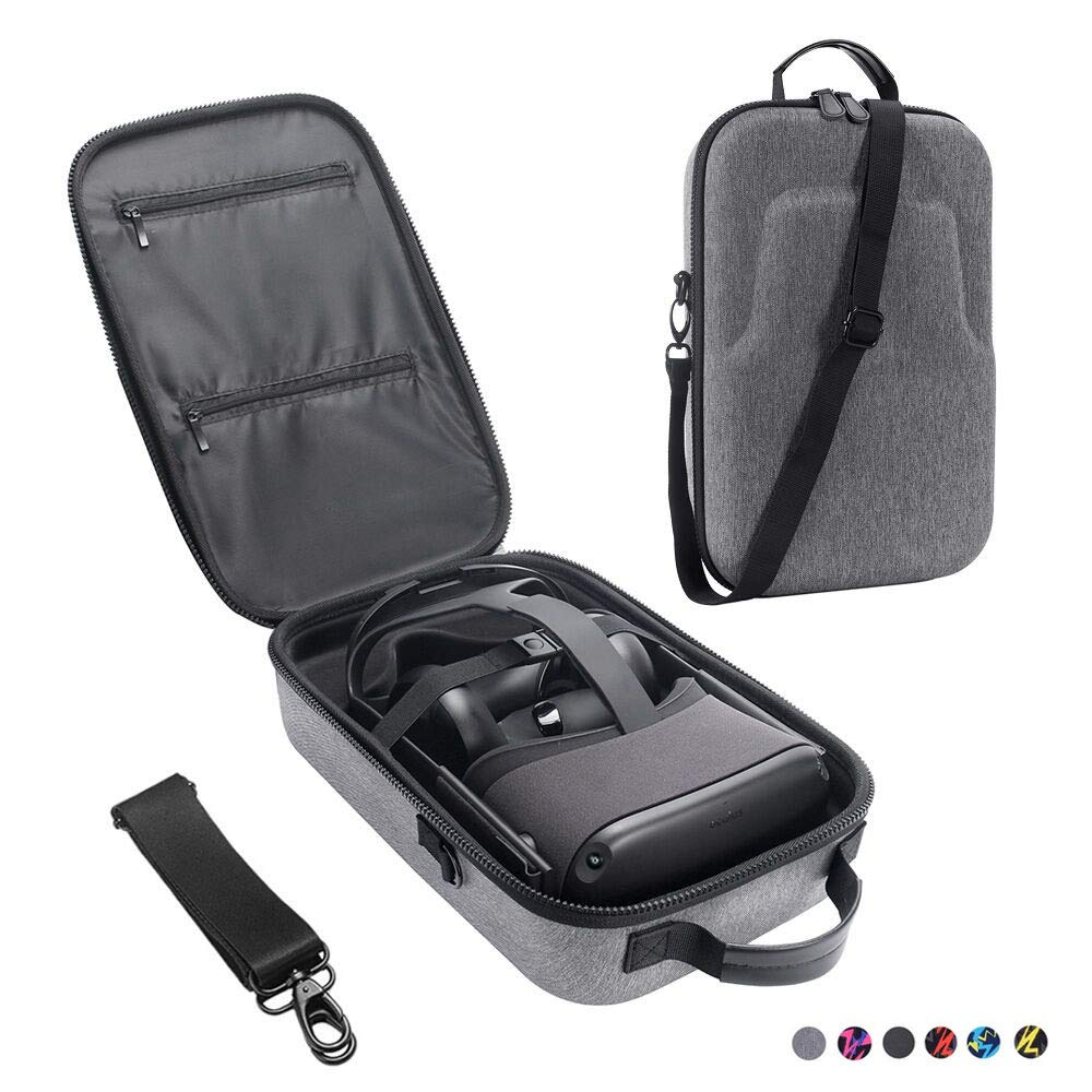 Esimen Fashion Travel Case for Oculus Quest VR Gaming Headset and Controllers Accessories Waterproof Carrying Bag (Gray) by Esimen