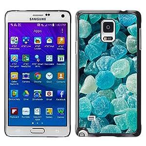 PC/Aluminum Funda Carcasa protectora para Samsung Galaxy Note 4 SM-N910F SM-N910K SM-N910C SM-N910W8 SM-N910U SM-N910 blue rocks sun summer stone gem / JUSTGO PHONE PROTECTOR