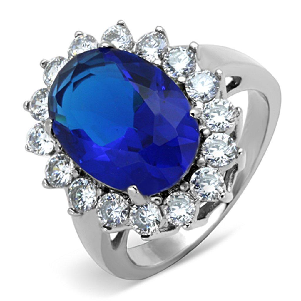 ISADY - Kate - Bague Femme - Oxyde de zirconium bleu
