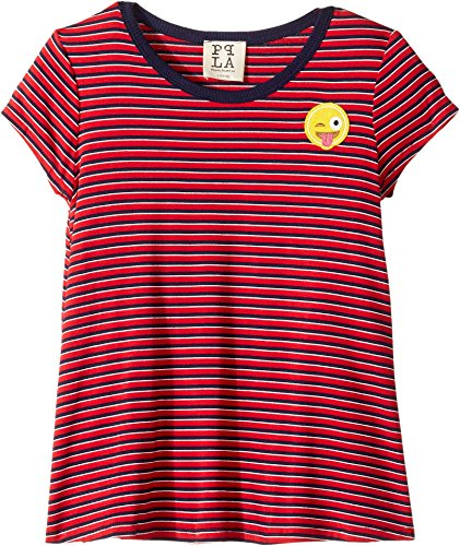 Person Ringer T-shirt (People's Project LA Kids Girl's Smile Ringer Tee (Big Kids) Red Small)