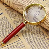 Best Glass Magnifier With Wooden Handles - Zytree(TM)50mm 8X Magnifying Lens Reading Tool Microscope Ferramentas Review