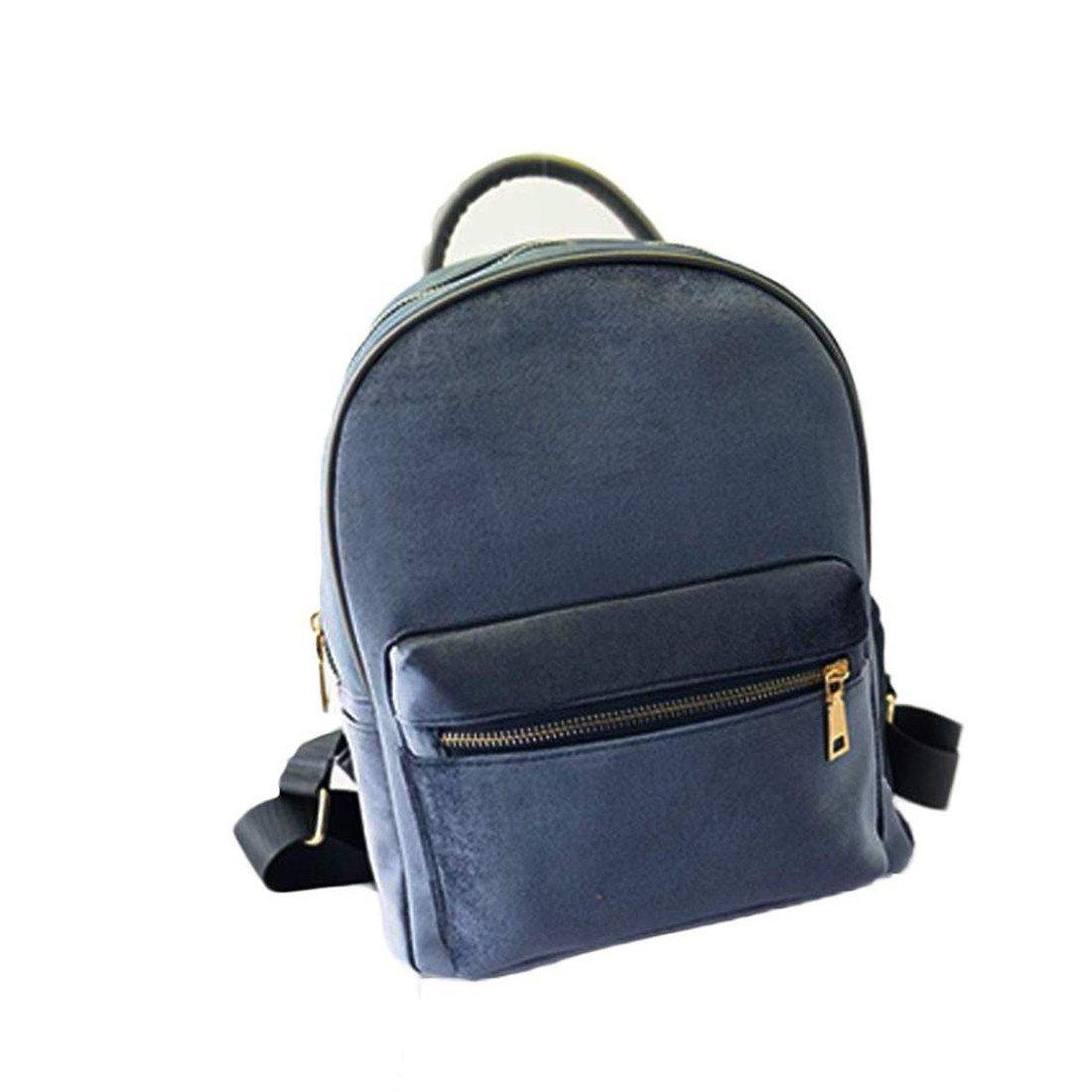Sac à dos Brezeh - Pour femme - Petite taille - Velours doré Sacs à main de forme de sac à dos Taille unique noir
