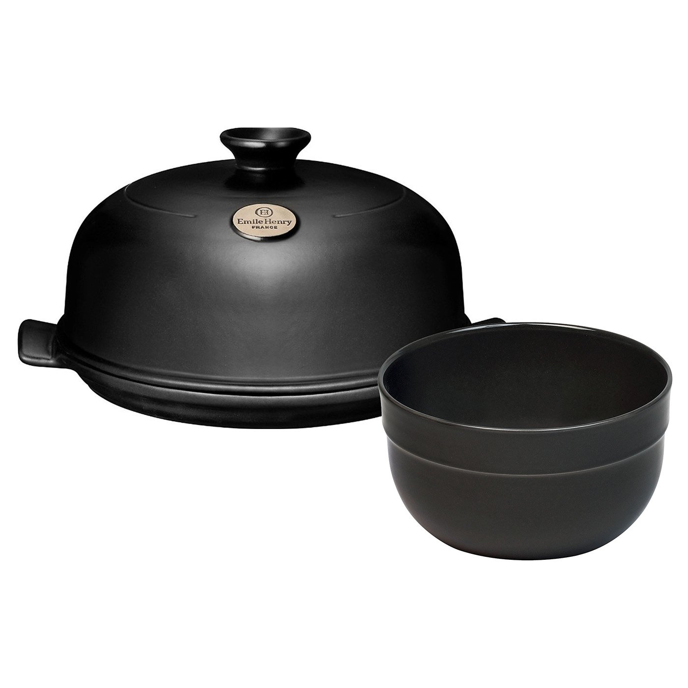 2 Piece Bread Cloche and Mixing Bowl Color: Charcoal